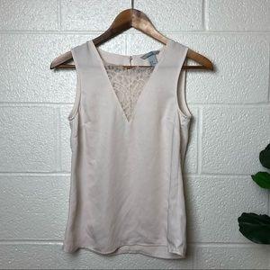 H&M Blush Lace Tank Top